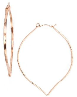 Ija 'large' 14k-rose Gold Fill Lotus Hoop Earrings