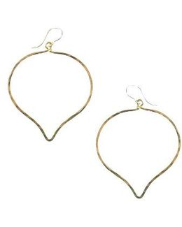 Ija 'large' Faceted Lotus Hoop Earrings