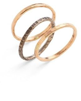 Ija Stackable Hammered Rings (set Of 3)
