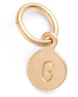 Tiny Initial 14k-gold Fill Coin Charm