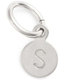 Tiny Initial Sterling Silver Coin Charm