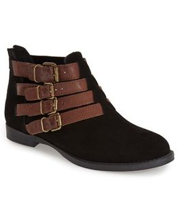 'Ronan' Buckle Leather Bootie