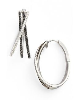 3-row Crossover Diamond Hoop Earrings (limited Edition) (nordstrom Exclusive)