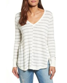 Caslon High-low V-neck Sweater