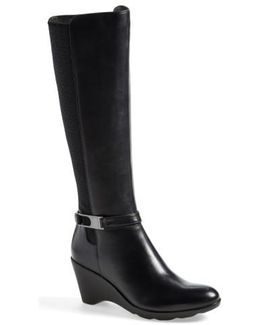 Eddy Leather-blend Knee-high Boots
