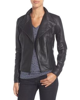 By Andrew Marc 'Felix' Stand Collar Leather Jacket