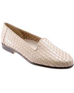 Basket-Weave Leather Slip-Ons