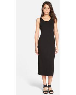 Scoop Neck Jersey Midi Dress