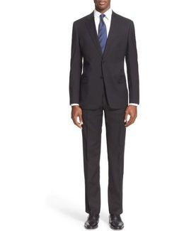 G-line Trim Fit Solid Wool Suit