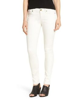 Organic Cotton Sateen Skinny Jeans