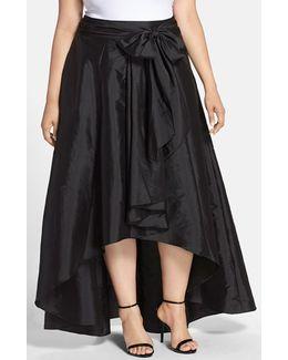 High/low Taffeta Skirt