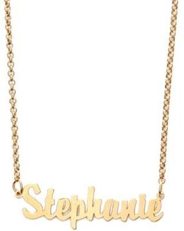 Personalized Script Name Necklace