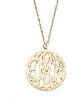 Personalized 3-letter Monogram Necklace