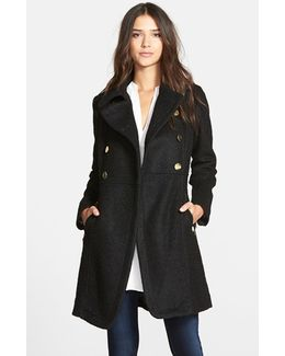 Double Breasted Boucle Cutaway Coat