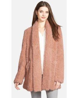 'teddy Bear' Faux Fur Clutch Coat