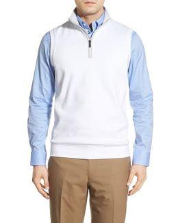 Leaderboard Quarter Zip Pima Cotton Vest