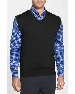 'douglas' Merino Wool Blend V-neck Vest