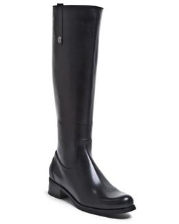 'victorina' Waterproof Leather Riding Boot