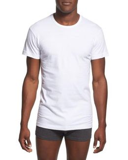 Slim Fit 3-pack Cotton T-shirt, White