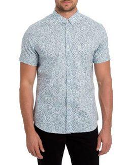'noble Heart' Trim Fit Print Woven Shirt