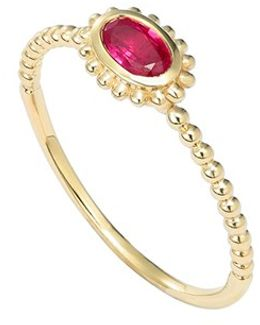 'covet' Oval Stone Caviar Stack Ring