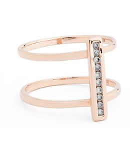'licol' Diamond Bar Ring