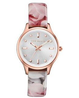 'dress Sport' Patent Leather Strap Watch
