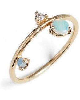 Counting Collection - Three-step Balloon Opal & Diamond Ring