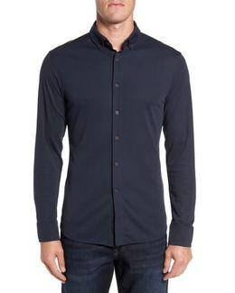 Slim Fit Button Down Collar Sport Shirt
