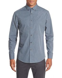 Slim Fit Button Down Collar Sport Shirt