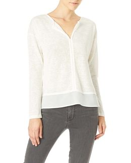 Hanna Split Neck Knit Tee