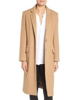 Wool Blend College Coat