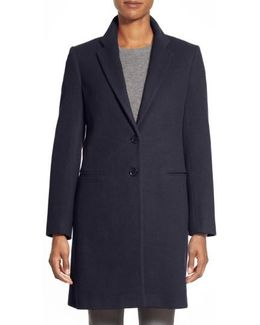 Wool-Blend College Coat