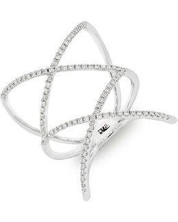 Diamond Double Crisscross Ring (nordstrom Exclusive)