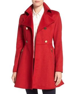 Plus Size Flared Peacoat