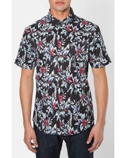 'ignition' Trim Fit Short Sleeve Print Woven Shirt