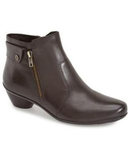 Haley Leather Ankle Boots