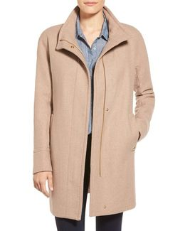Wool Blend Stadium Coat
