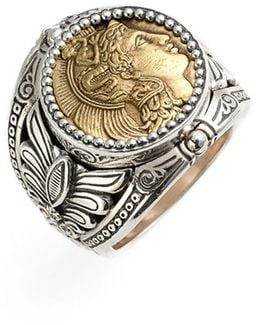 'athena' Coin Ring
