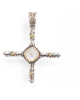 'erato' Stone Cross Pendant