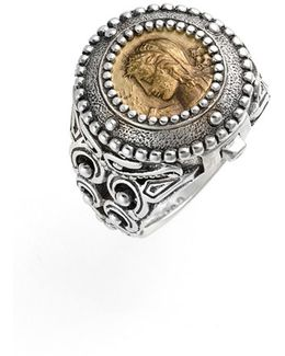 'arethusa' Hinged Coin Ring