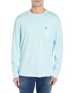 'bali Skyline' Long Sleeve Pima Cotton T-shirt