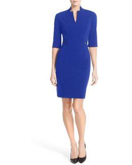 Bi-stretch Sheath Dress