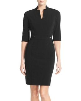 Bi-stretch Sheath Dress