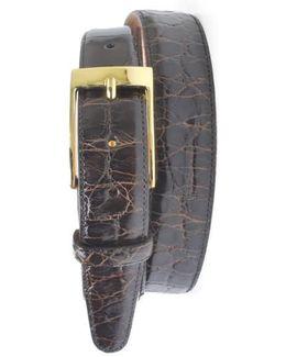 'joseph' Genuine American Alligator Leather Belt