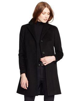 Reefer Wool-Blend Coat