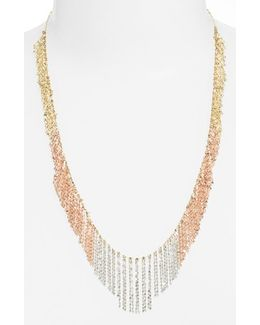 'nude' Tri-color Fringe Necklace