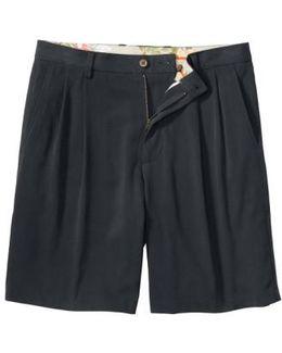 'st. Thomas' Pleated Shorts