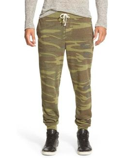 'dodgeball' Camo Print Sweatpants