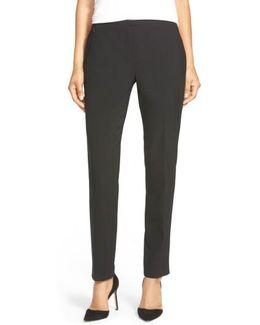 'Jillian' Slim Stretch Wool Pants